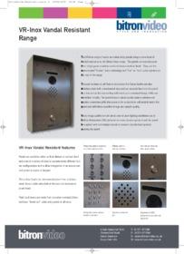 Bitron    Inox Vandal Resistant Panels brochure