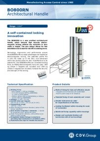 CDV Door Handle BO800RN brochure
