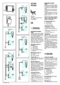 Instructions for AC/200 auxilliary relay