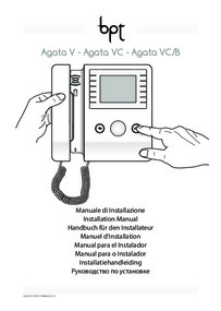 Installation instructions for Agata VC color video receiver