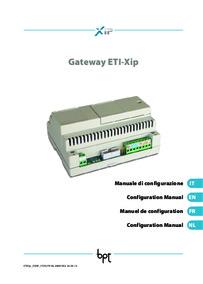 Configuration manual for ETI/XIP