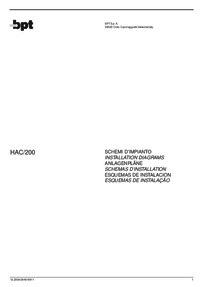 BPT wiring diagram - HAC/200