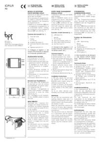 BPT ICP/LR installation manual
