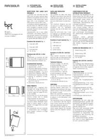 Installation instructions for RIR/300LR