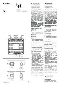 BPT XDV/304A installation instructions