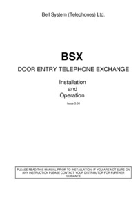 Bell BSX User manual