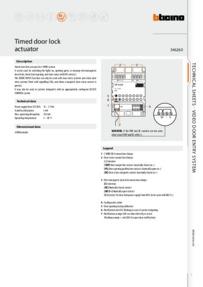 Bticino brochure for 346260