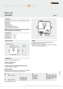 Bticino installation manual for 346833