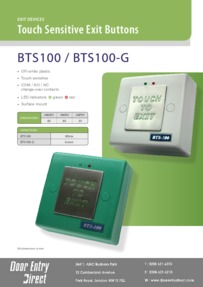 BTS100 Touch Sensitive Exit Button Brochure