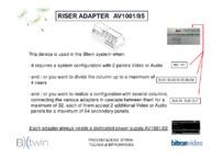 Btwin Riser Adapter coding