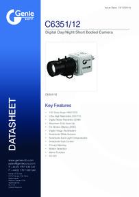 Digital Day/Night Box Camera data sheet