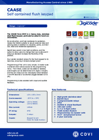 CAASE Flush Keypad brochure