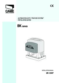 BK Range Installation Instructions