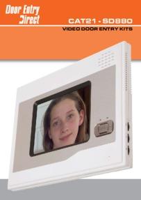 SD880 video door entry kits - brochure