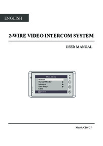 CDVI instruction manual for 2EASY monitor