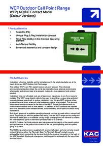 KAC Waterproof Green Break Glass Unit