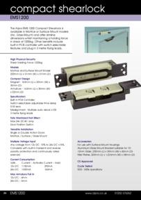 Data Sheet Alpro EMS1200 shearlock