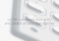 Bell CS106 Combined Door Entry and Coded Access Standalone Brochure