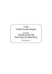 Bell CS106 User Manual