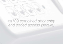 Bell (BSTL) CS109 Combined Door Entry and Coded Access (secure) Brochure