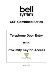 CSP Combined Proximity Manual