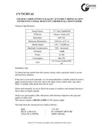 CV73CHVAI Camera Manual