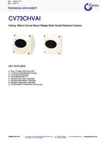 CV73CHVAI Camera data sheet