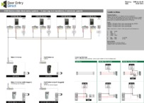 CVK Wiring Diagram 1 call button calling 4 monitors, 2 entrances