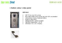 CVK Video Intercoms Brochure