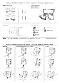 D115 resettable break glass unit installation instructions