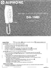 DA-1MD Operation manual