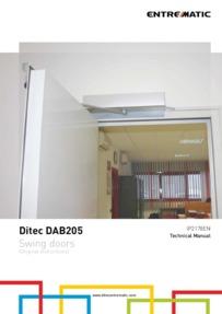 Ditec DAB205 technical manual