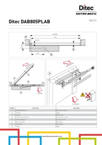 Ditec DAB805PLAB Manual