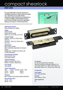 Data Sheet Alpro EMS1200 Compact Shearlock