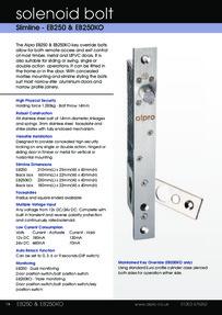 Data Sheet Alpro EB250 and EB250KO Solenoid Bolts