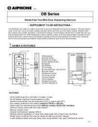 DB Range instruction manual