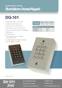 DG101 Internal keypad data sheet
