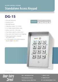 DG15 keypad data sheet