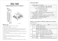 DG-180 Keypad User Manual