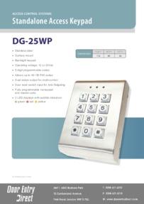 DG25 keypad data sheet
