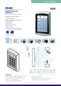 DG-800 Specification sheet
