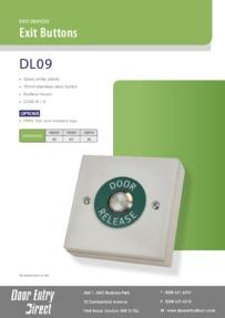 DL09 Gloss White Plastic Exit Button Brochure
