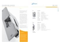 Entryphone brochure for DL141 Releases
