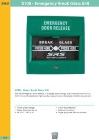 SRS - D108 Break Glass Unit - Datasheet - Feb 2018