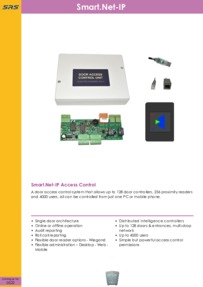 SRS - Smart.Netv-IP Access Control System - Datasheet - Apr 2018