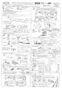 CDVI Safety Sensor Instructions Page 1