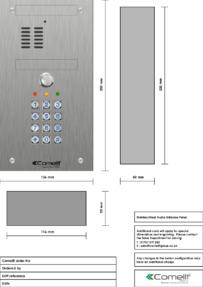 Comelit - VK4101/05 engraving template