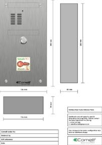Comelit - VK4101/08 engraving template