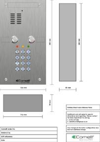 Comelit - VK4102-05 engraving template