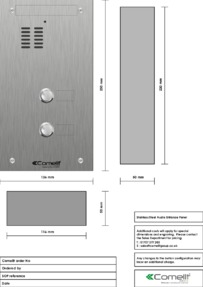 Comelit - VK4102 engraving template